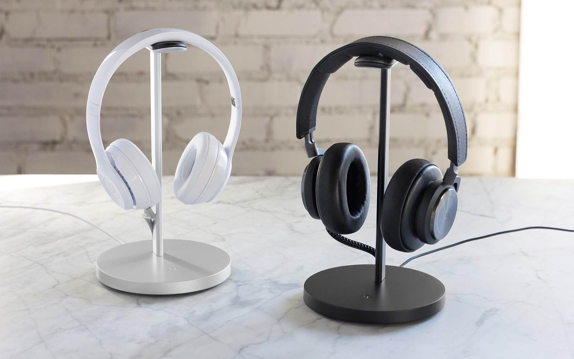 "Twelve South ""Fermata"" headphone charging stand. ($80; available in silver and black)"