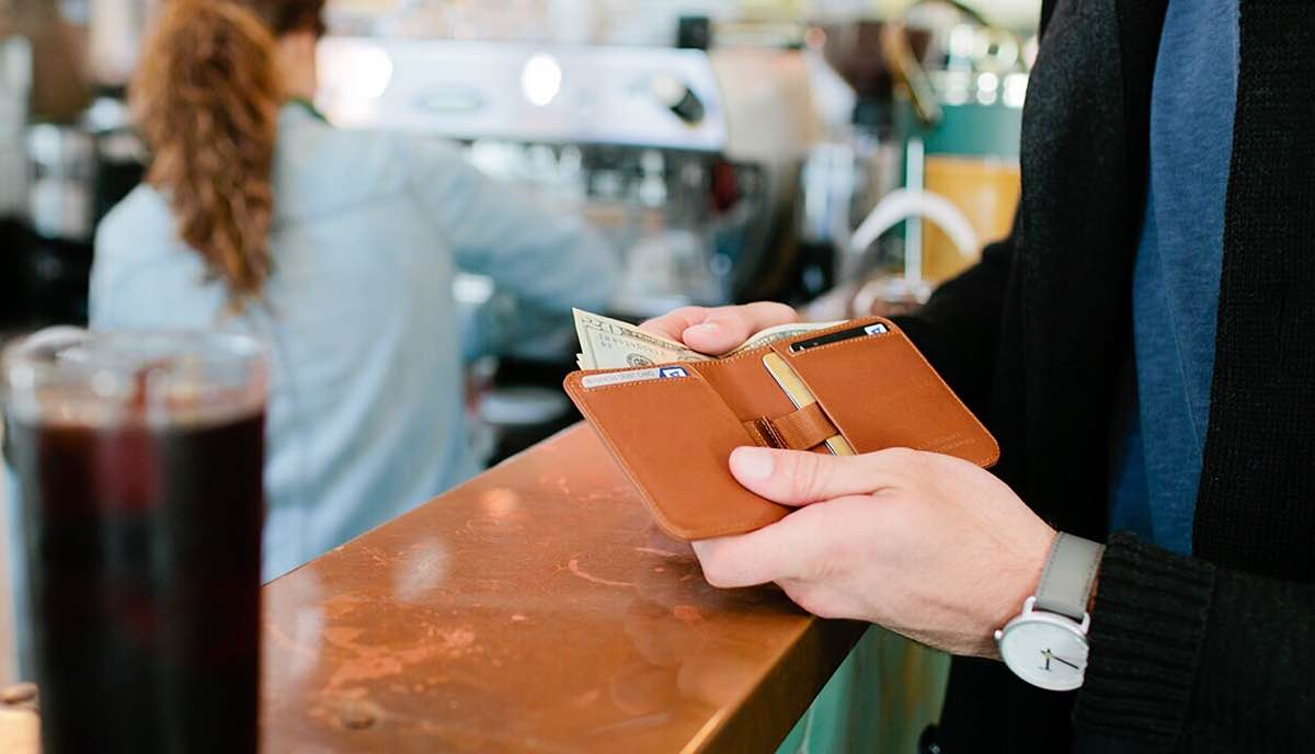 Distil Union's Wally Agent bifold wallet. ($80)