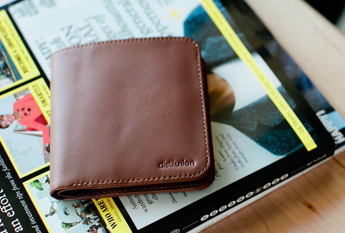 The full-grain leather will only improve with age.