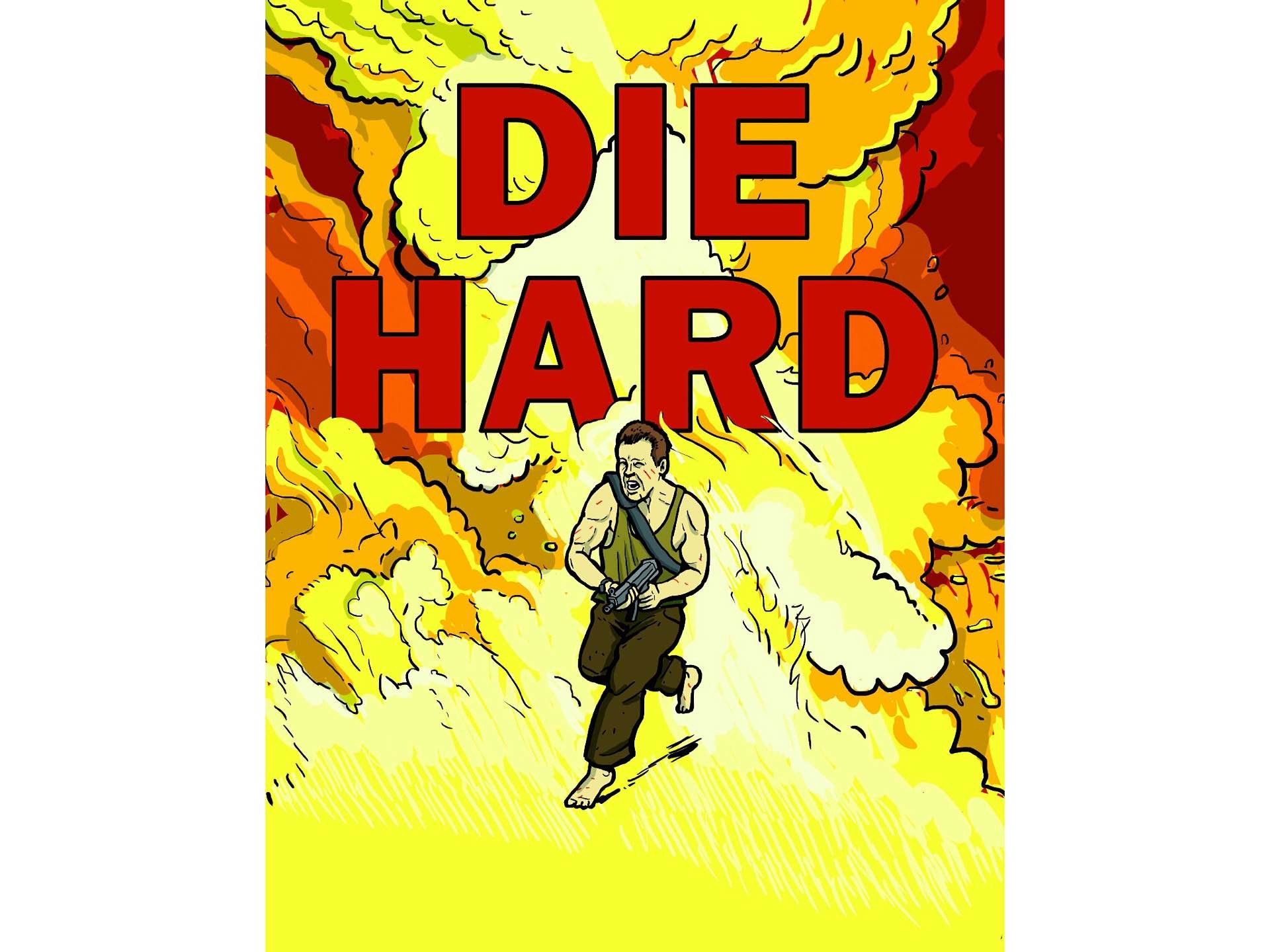The official Die Hard coloring book. ($11) — Warning: Book contains violent content and is not suitable for children.