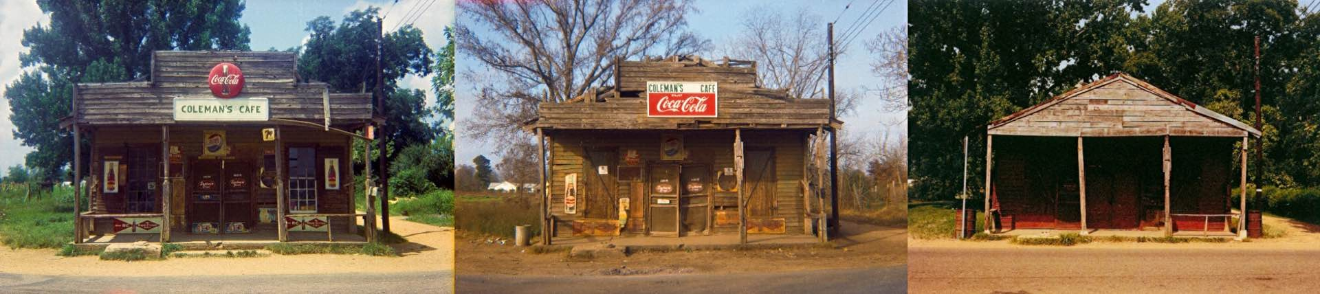 Photos: William Christenberry (years taken, from left to right: 1967, 1971, and 1980)