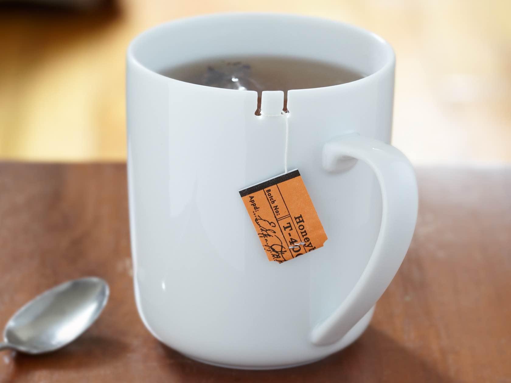 """The """"Tie Tea"""" mug by Le Mouton Noir & Co. ($29)"""