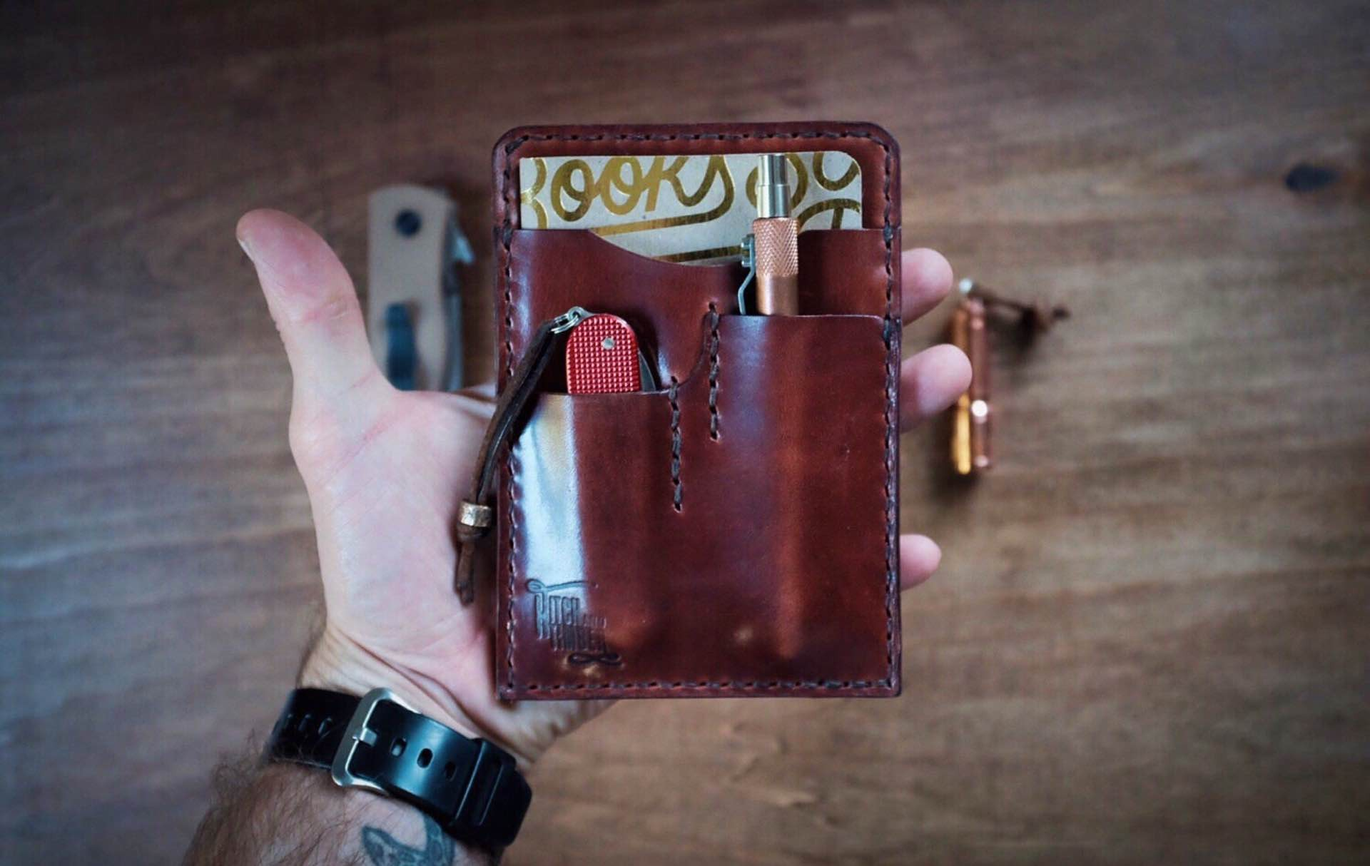Hitch and Timber's Notebook Caddy wallet. ($76–$86)