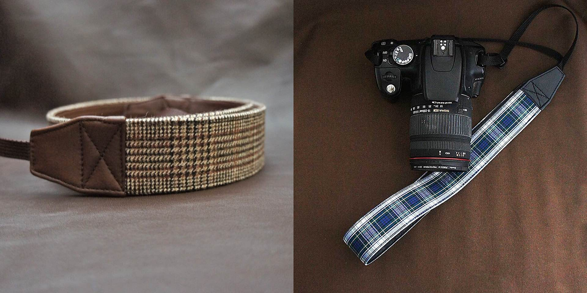 Shoko Miyamoto's handmade camera straps ($28–$33, depending on style)