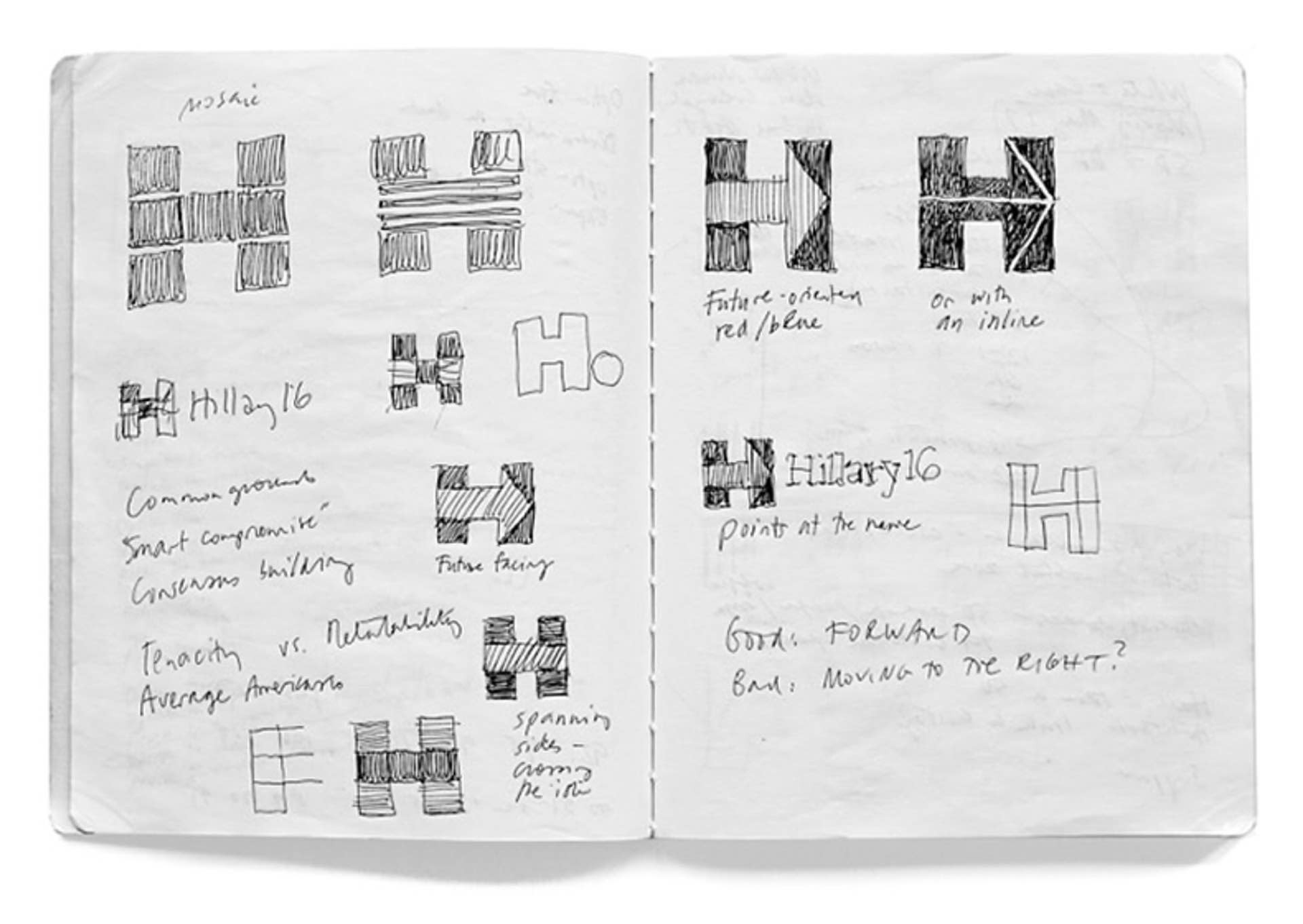 Concept sketches by Michael Bierut