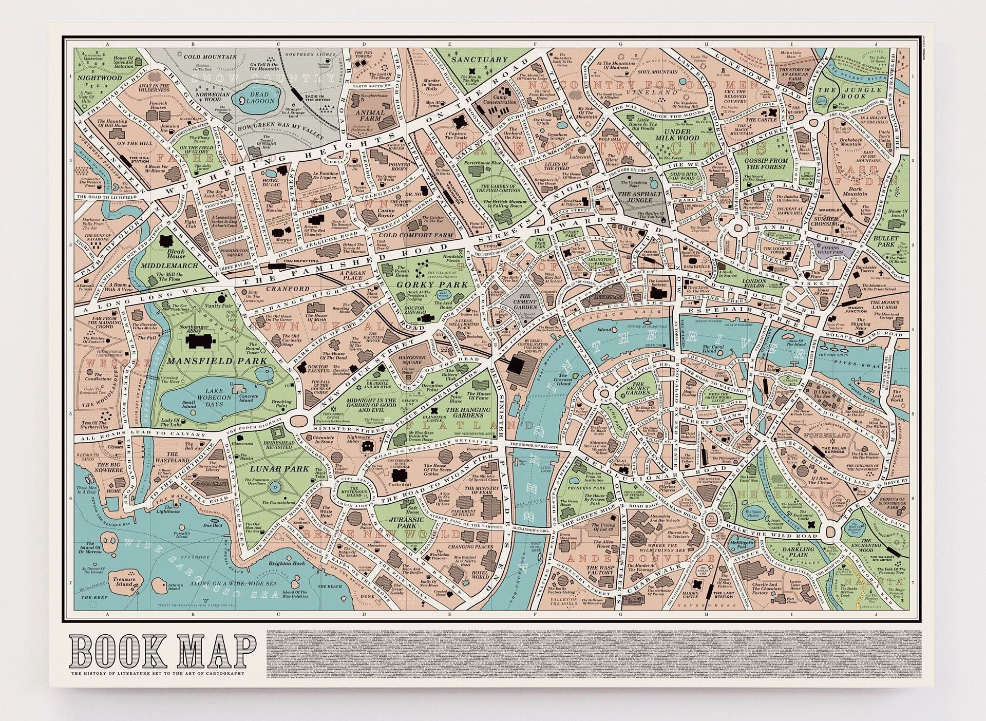 """The """"Book Map"""" by Dorothy. (£25.00 / ~$33 USD)"""