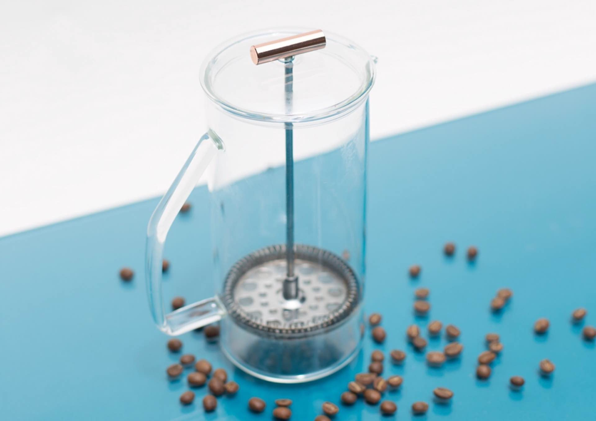 Yield Design's borosilicate glass French press. ($85)