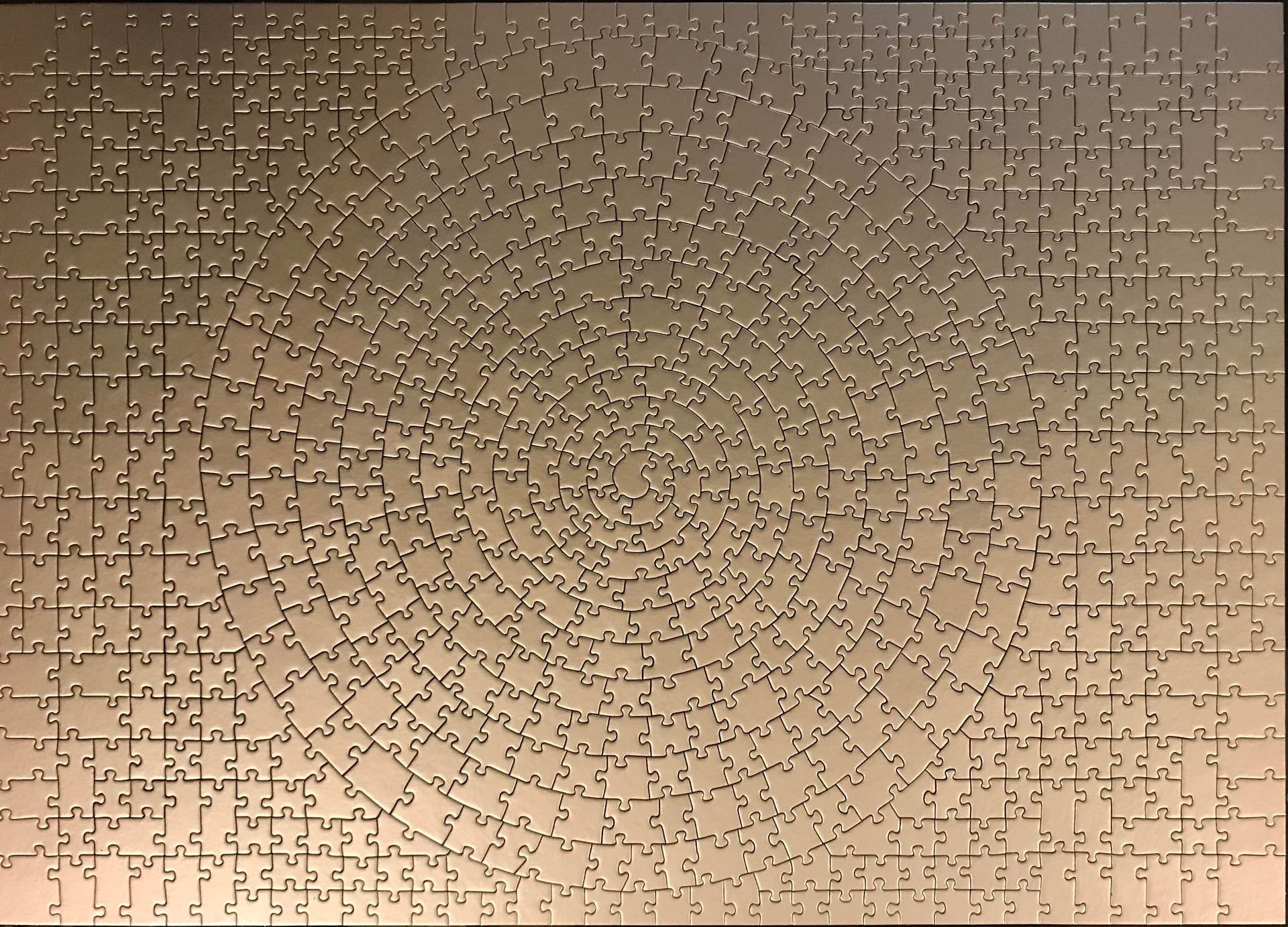 """Ravensburger """"Krypt"""" puzzle. ($20 for gold, $24 for silver)Photo: u/bruckization (Reddit)"""