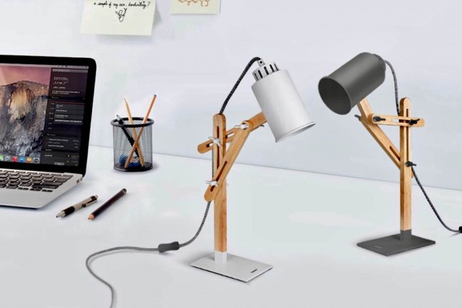 Tomons DL1005 LED desk lamp. ($40; available in white and gray)