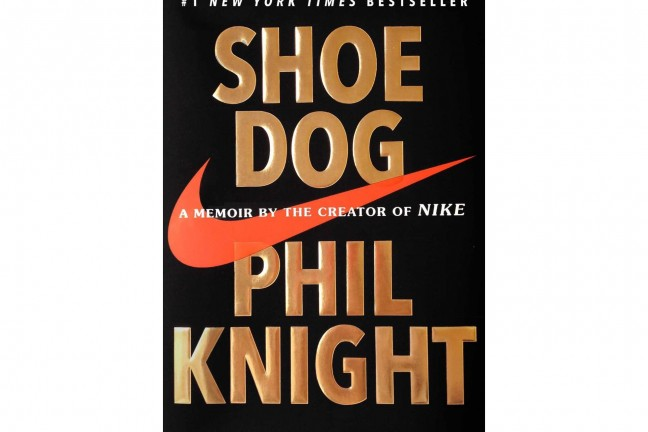 Shoe Dog by Phil Knight.