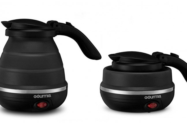 Gourmia foldable travel kettle. ($28 for black, $25 for white)