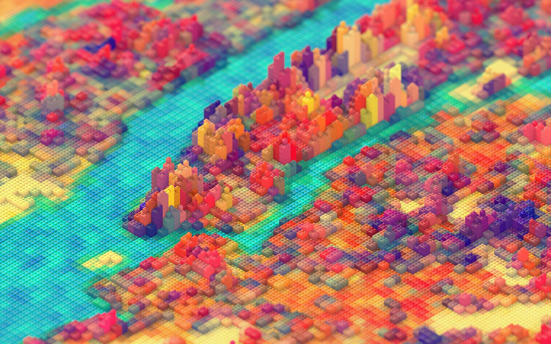 Lego New York print by J.R. Schmidt (Prices vary based on size and material)