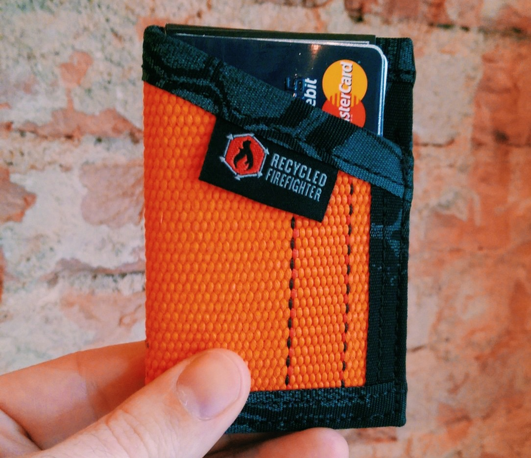 """""""The Sergeant"""" wallet by Recycled Firefighter. ($29)Photo: Mike Yarbrough, Wolf & Iron"""