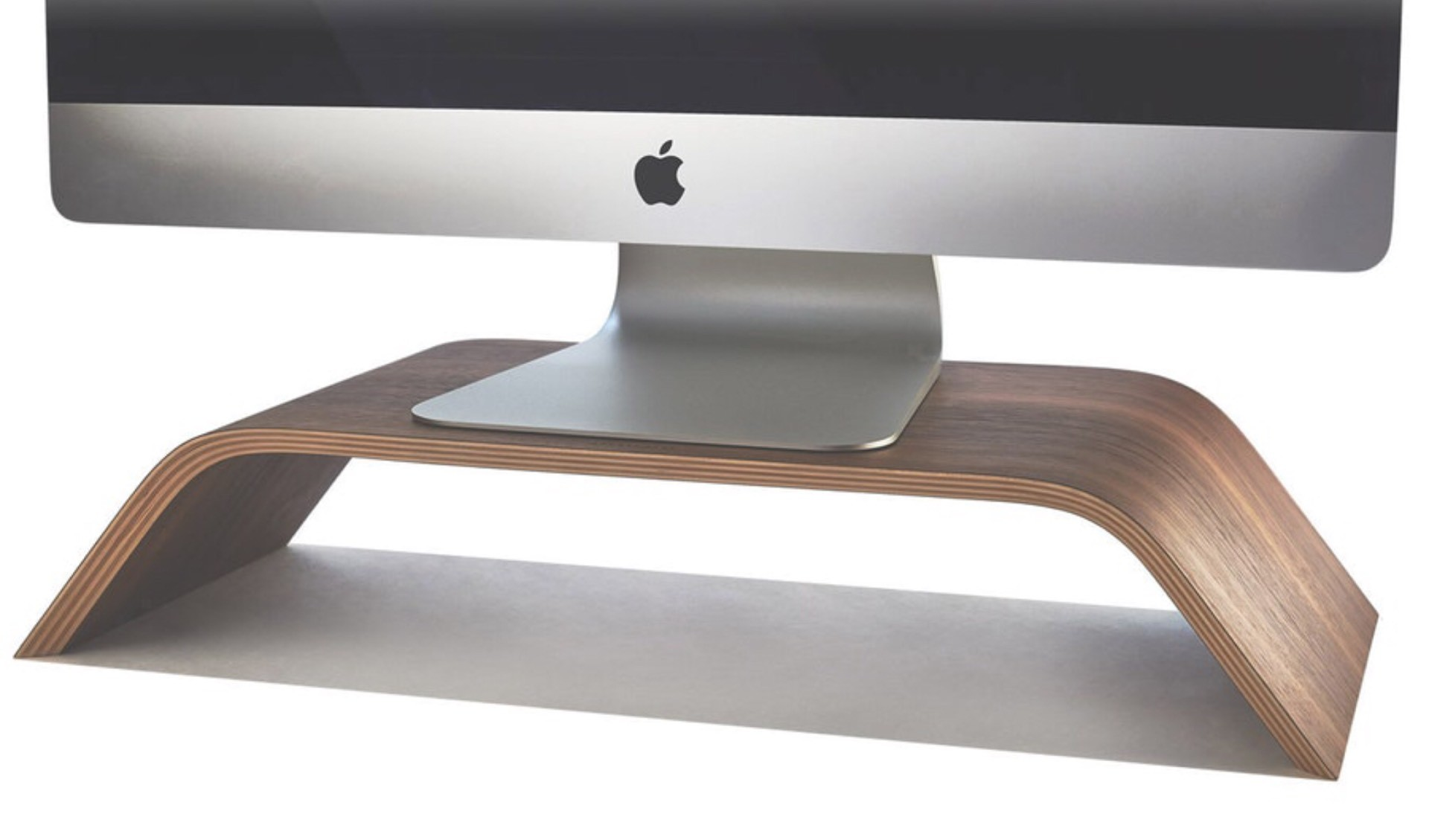 Grovemade wooden monitor stand. ($119; available in walnut and maple)