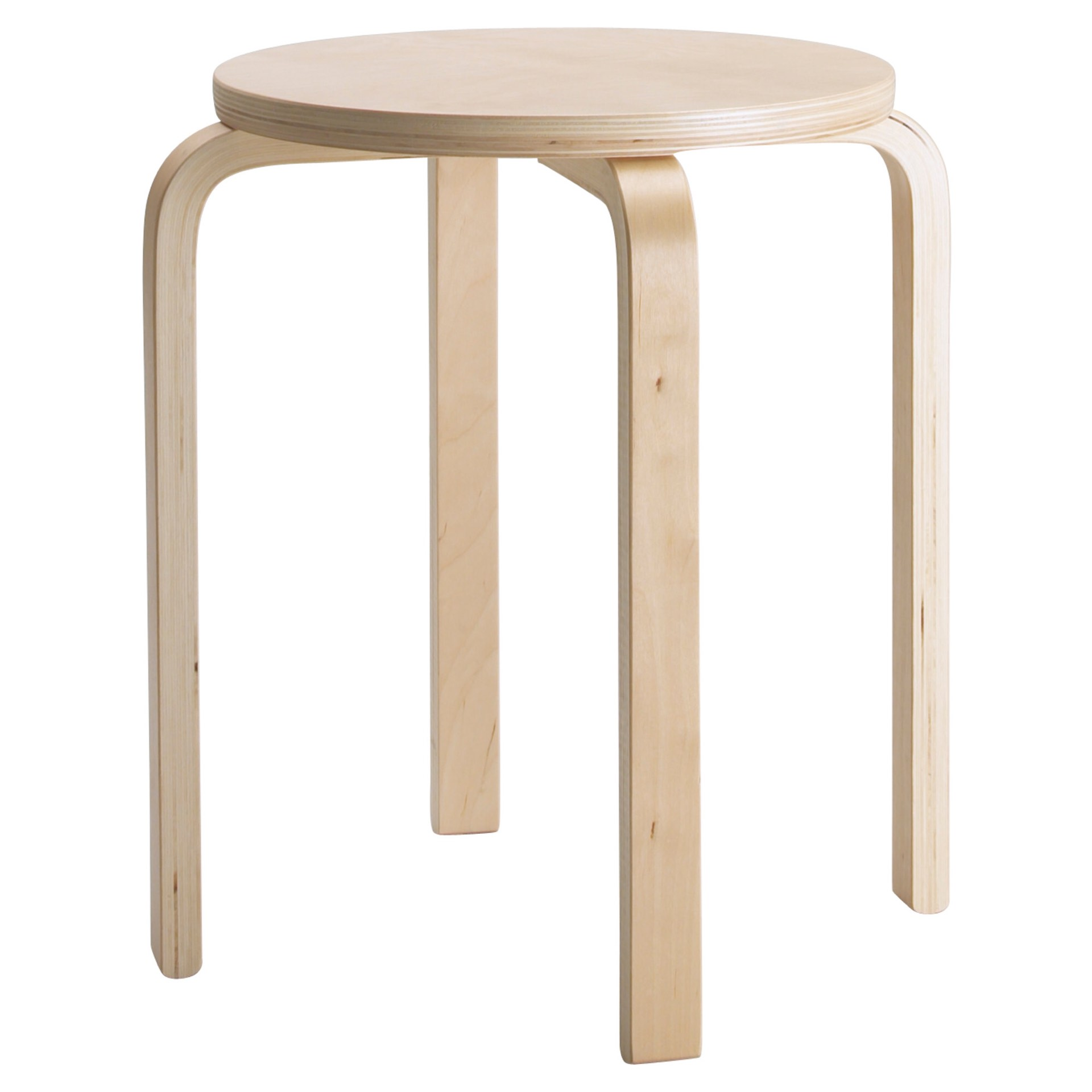 FROSTA birch plywood stool. ($15)