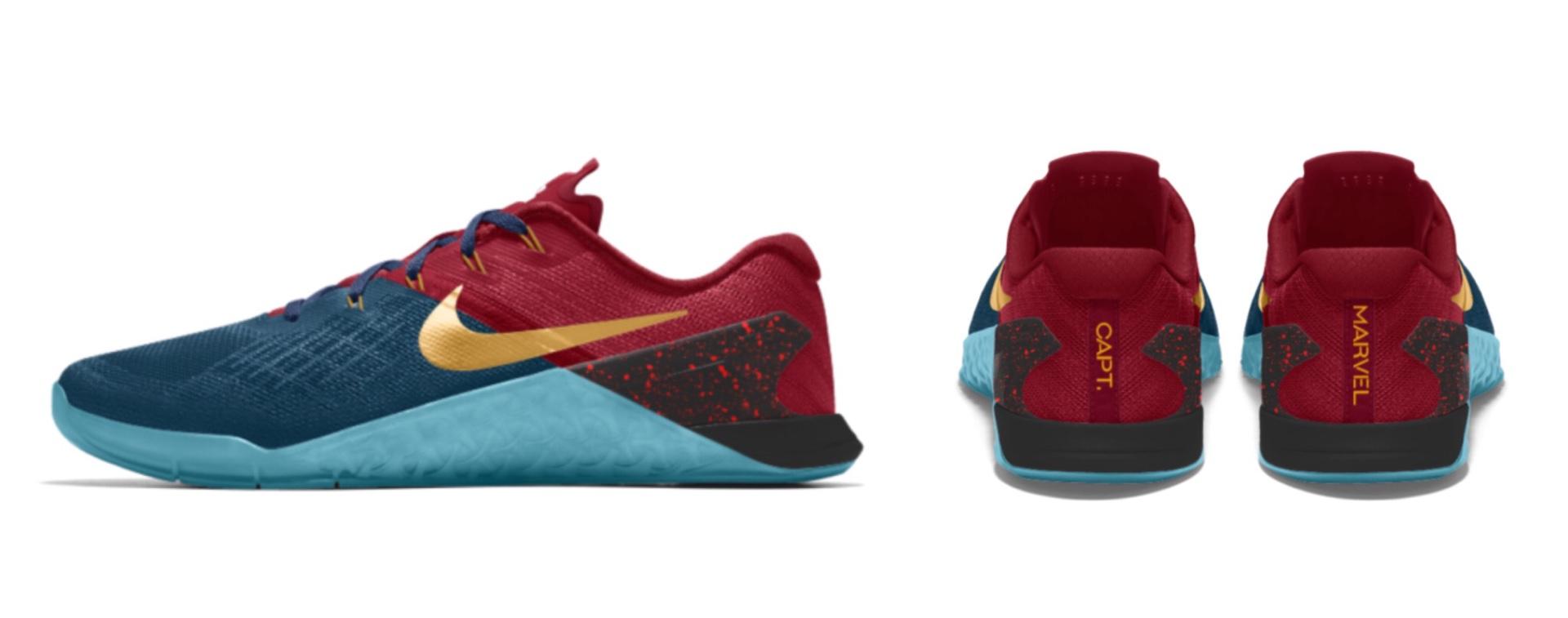 Captain Marvel-inspired Nike running shoes. ($150)