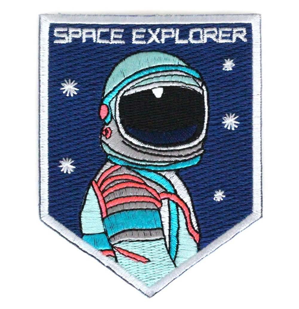 "Mokoyubi's ""Space Explorer"" iron-on patch. ($7)"