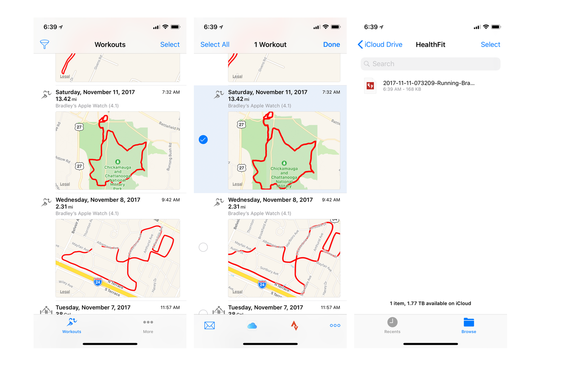 HealthFit - Export  FIT Files from Apple Watch — Tools and Toys