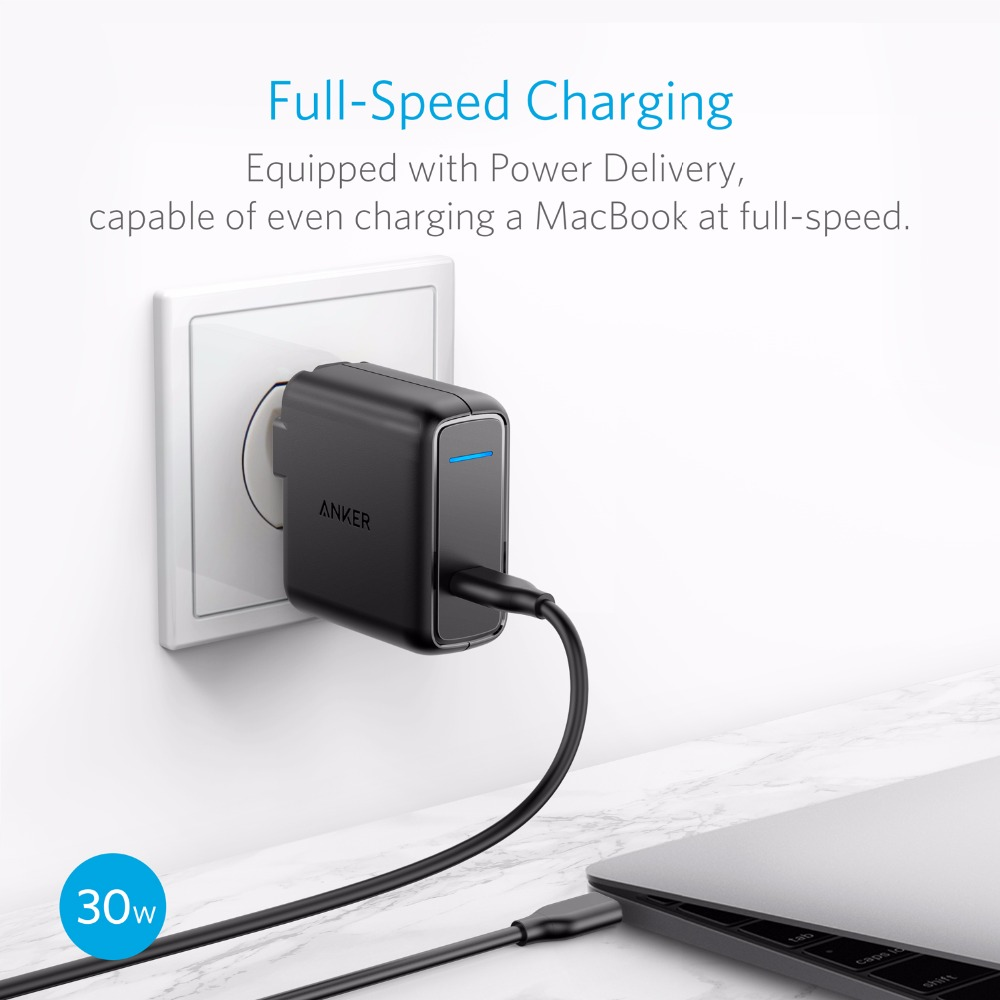 Anker-USB-Type-C-with-Power-Delivery-30W-USB-Wall-Charger-PowerPort-Speed-1-for-Nexus