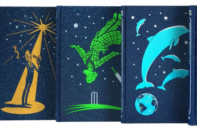Douglas Adams' Complete Hitchhiker Series by The Folio Society. ($230 for 5-book series)