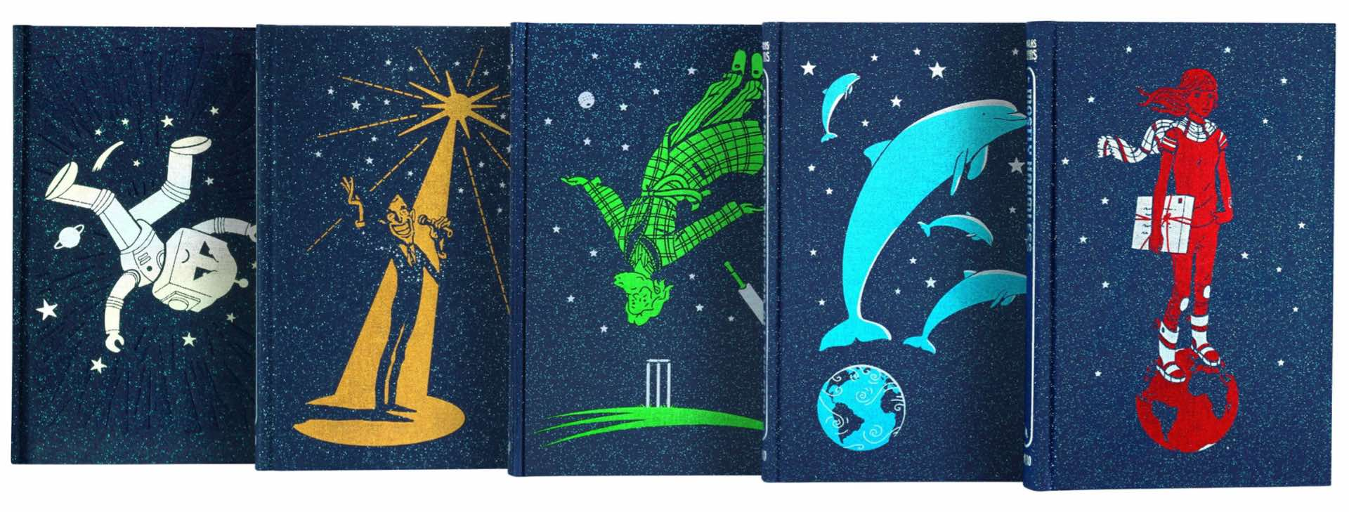 douglas-adams-the-complete-hitchikers-guide-series-by-the-folio-society