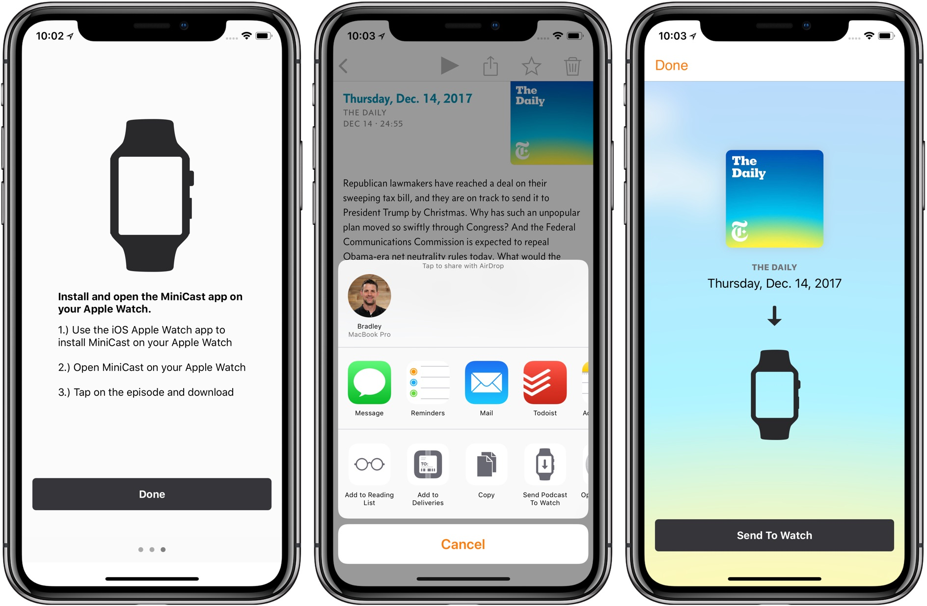 MiniCast - Podcast Playback for Apple Watch — Tools and Toys