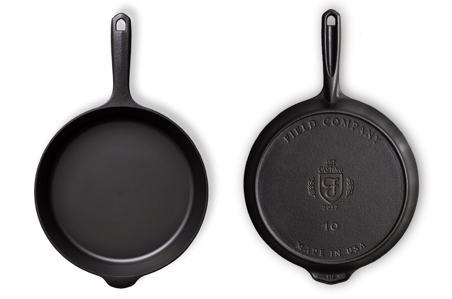 Field Company cast iron skillet. ($125 for № 8 size, $160 for № 10 size)