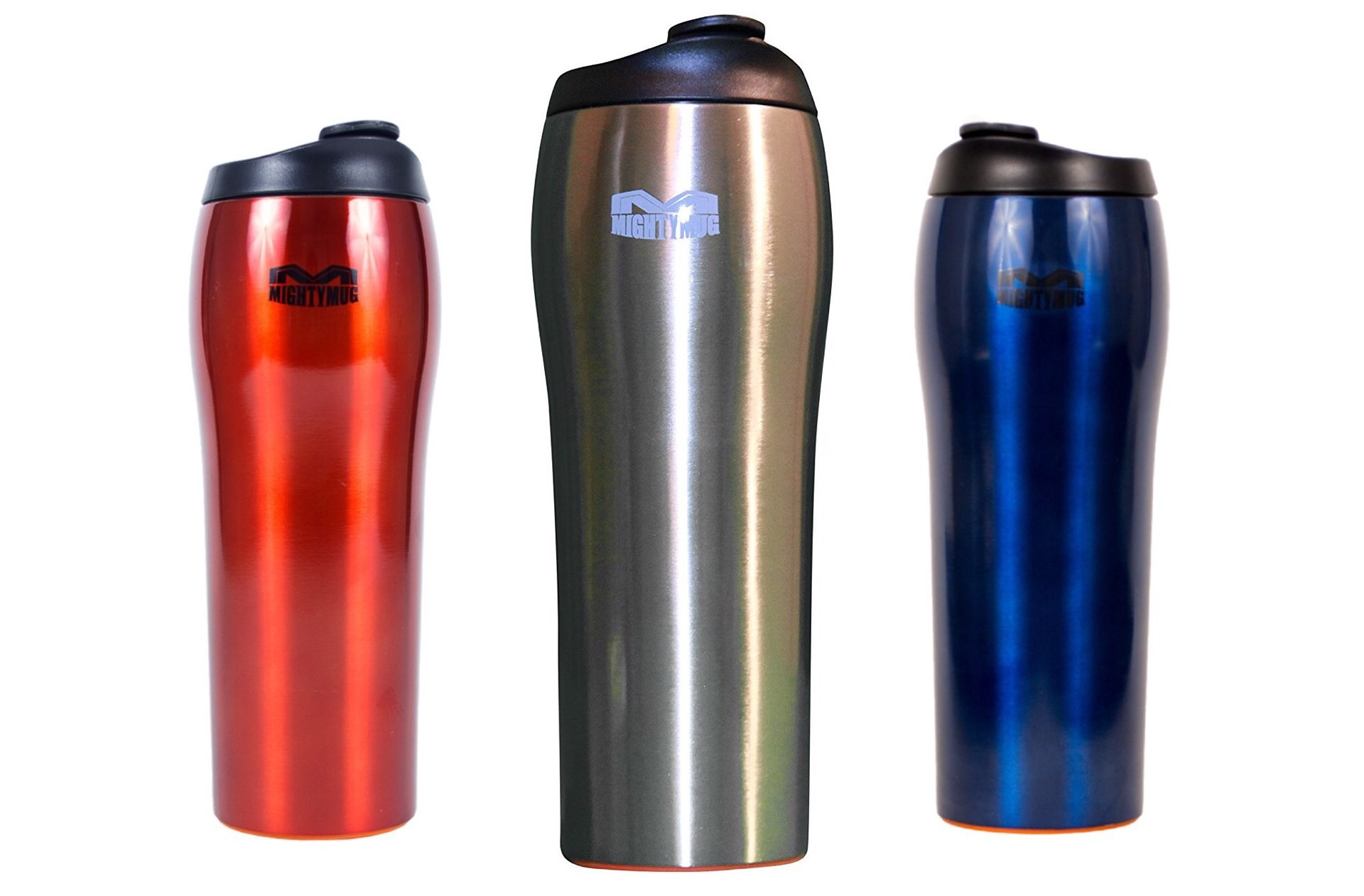 "The Mighty Mug ""Go"" stainless steel travel mug. ($30–$34, depending on color)"