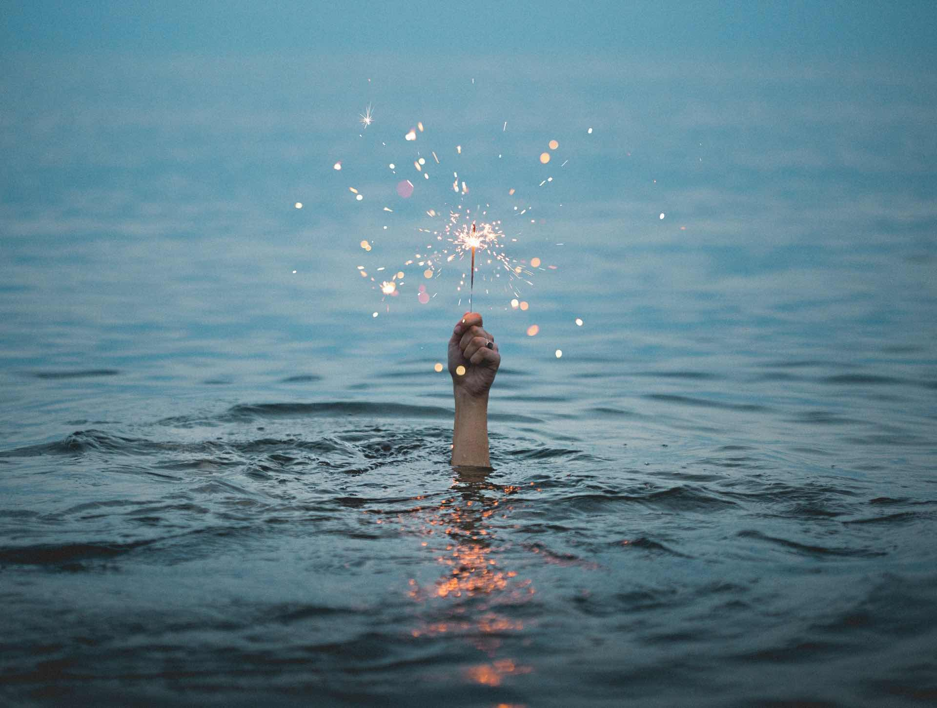 "This photo is listed under ""drowning"" on Unsplash but I see it as someone rising up from the depths, soon to surface for air.Credit: Kristopher Roller"