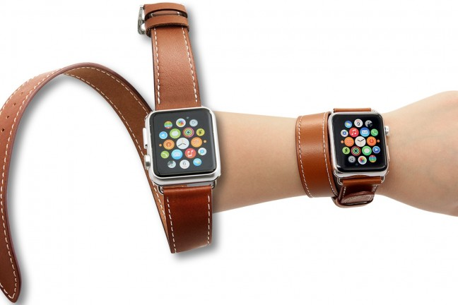 V-Moro's Double Tour leather band for Apple Watch. ($17)