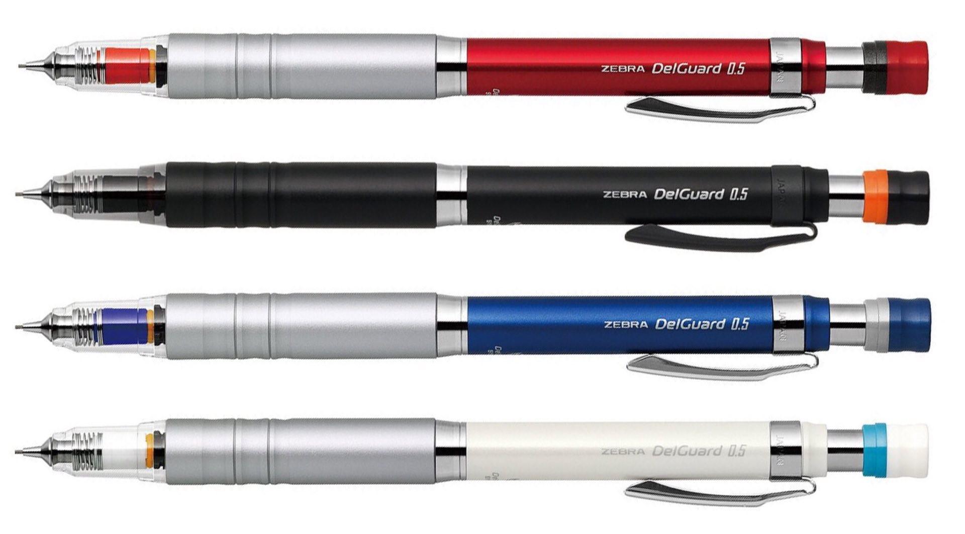 Zebra's DelGuard Type-Lx mechanical pencils. ($9 a pop)