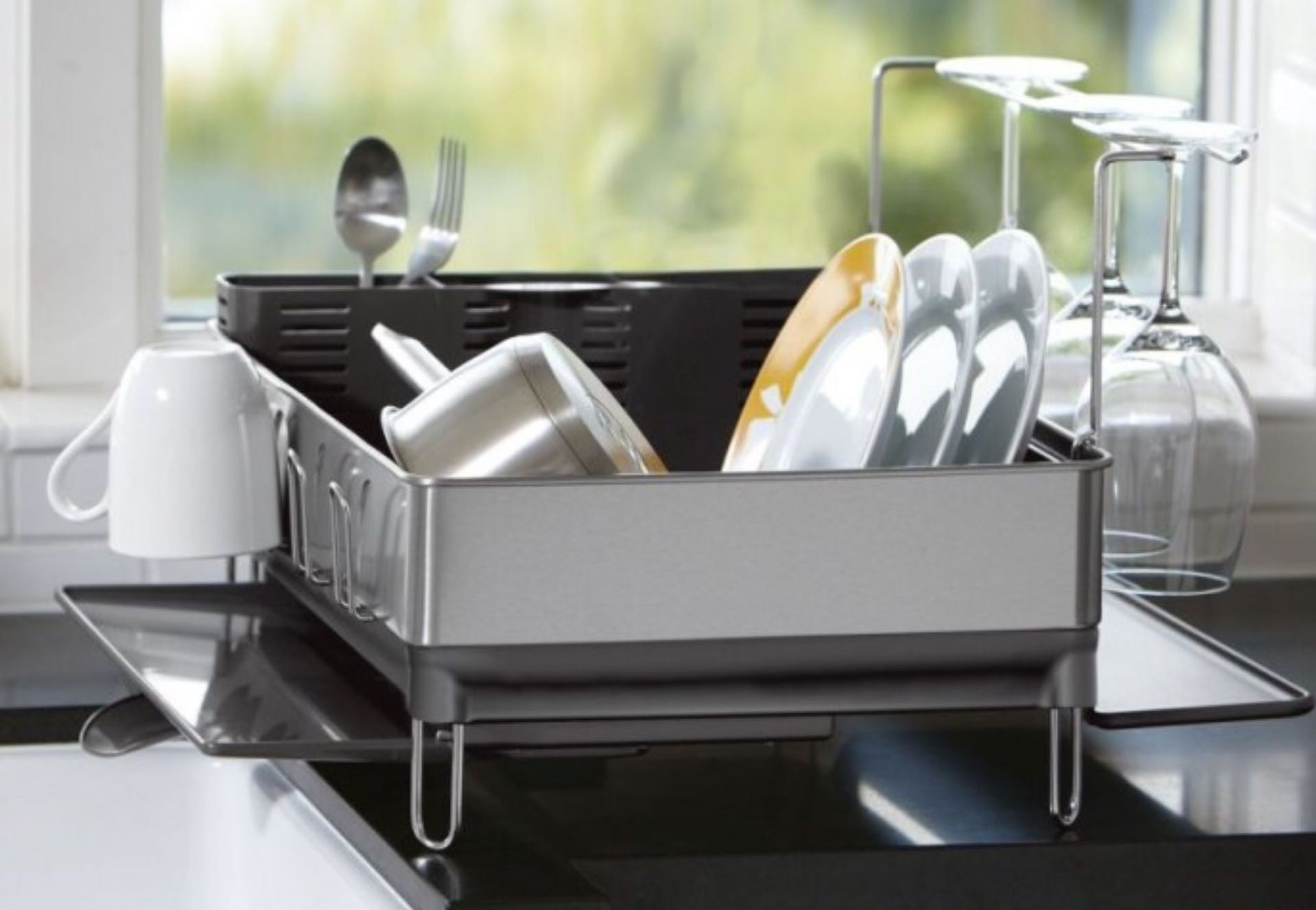 Simplehuman Steel Frame Dish Rack Tools And Toys