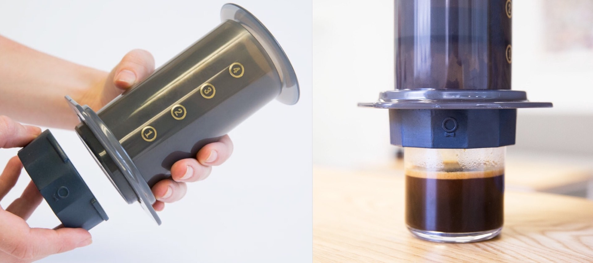 "Fellow's ""Prismo"" attachment gives your AeroPress espresso-like superpowers. ($25)"