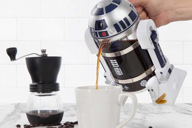 The R2-D2 Coffee Press will have you in first-class condition every morning. ($40)