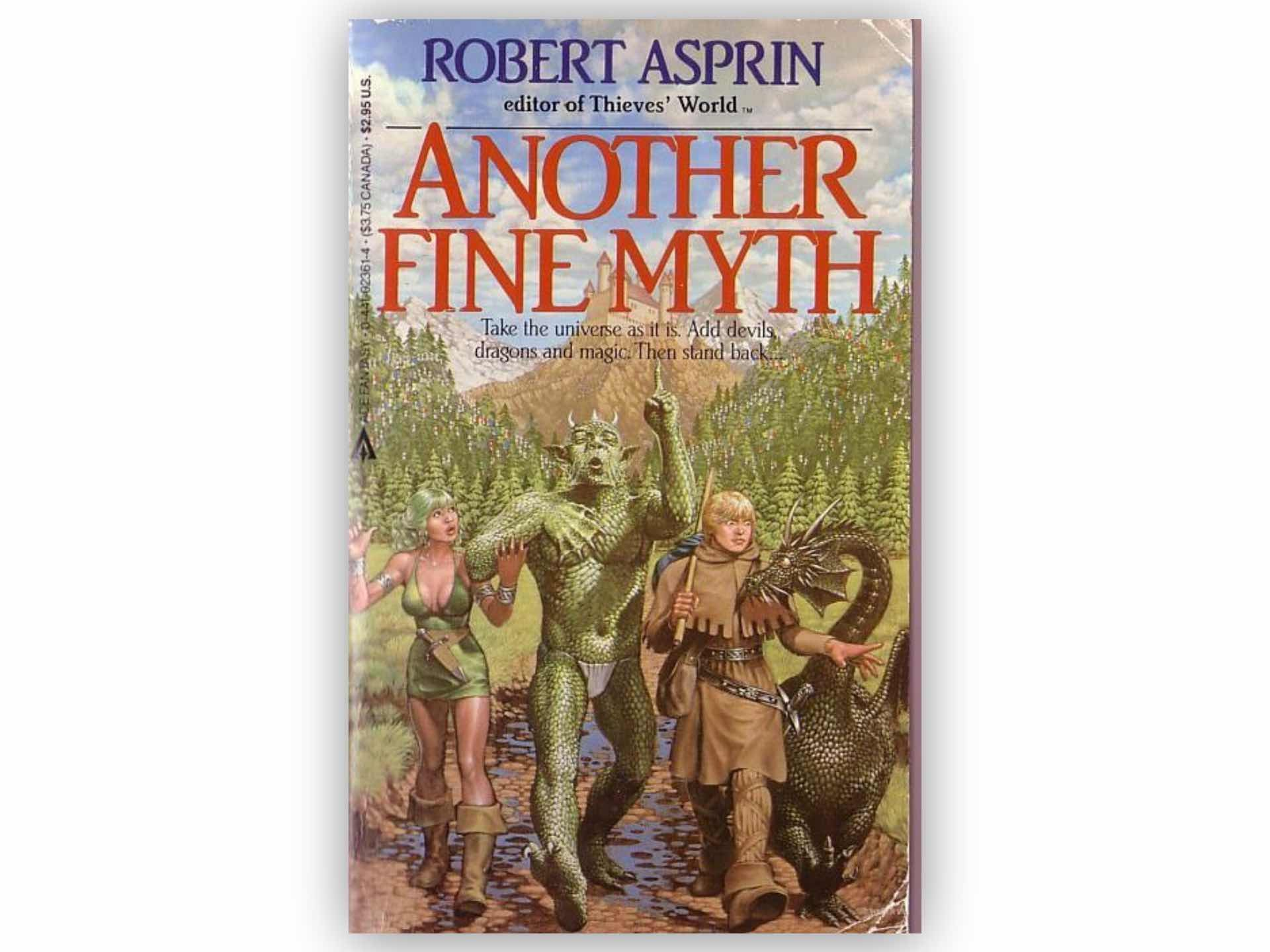 MYTH Adventures series by Robert Asprin.