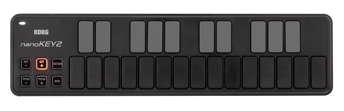 Korg's nanoKEY2 MIDI controller keyboard. ($55)