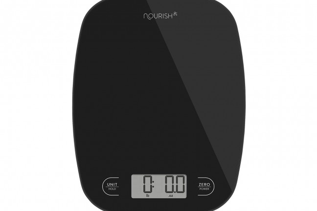 "The ""Nourish"" digital kitchen scale by Greater Goods. ($10–12, depending on color)"