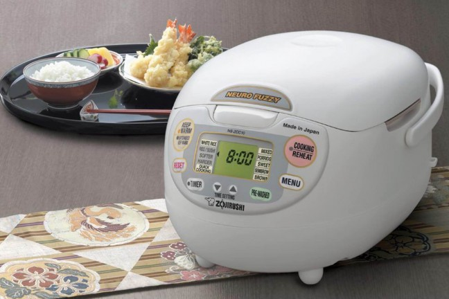 Zojirushi NS-ZCC10 rice cooker. ($162 for 1-liter, $153 for 1.8-liter — weird, right?)