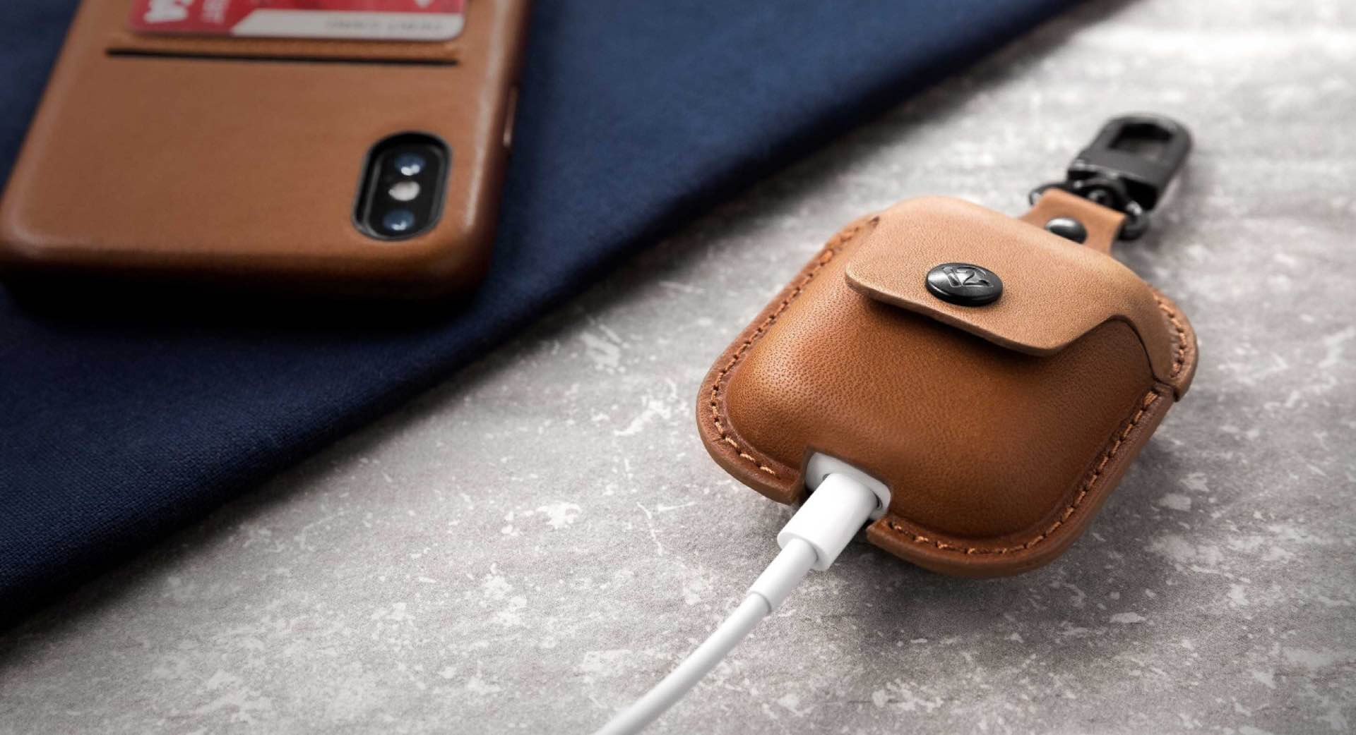 Twelve South AirSnap AirPods case. ($30)