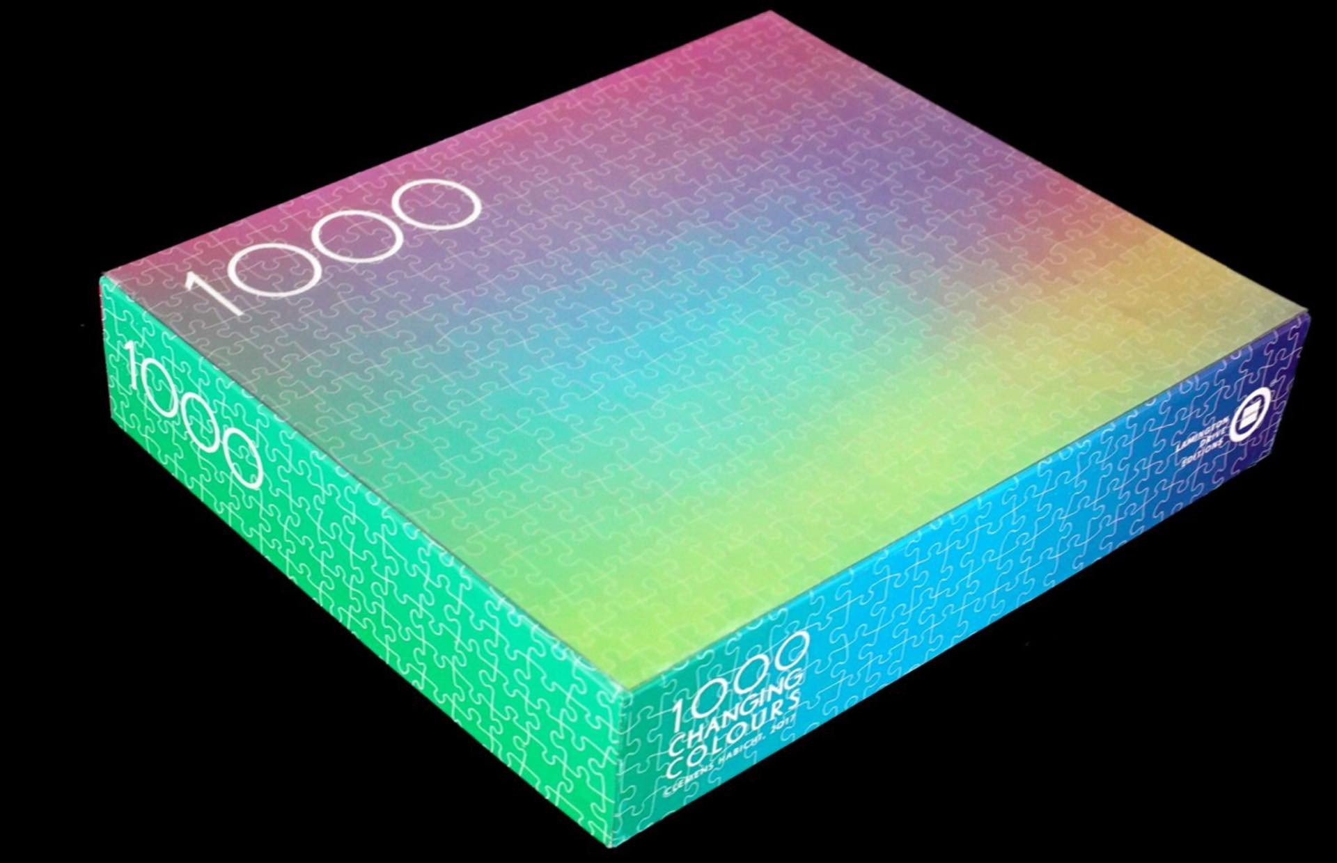 "Clemens Habicht's ""1000 Changing Colors"" jigsaw puzzle. ($89)"