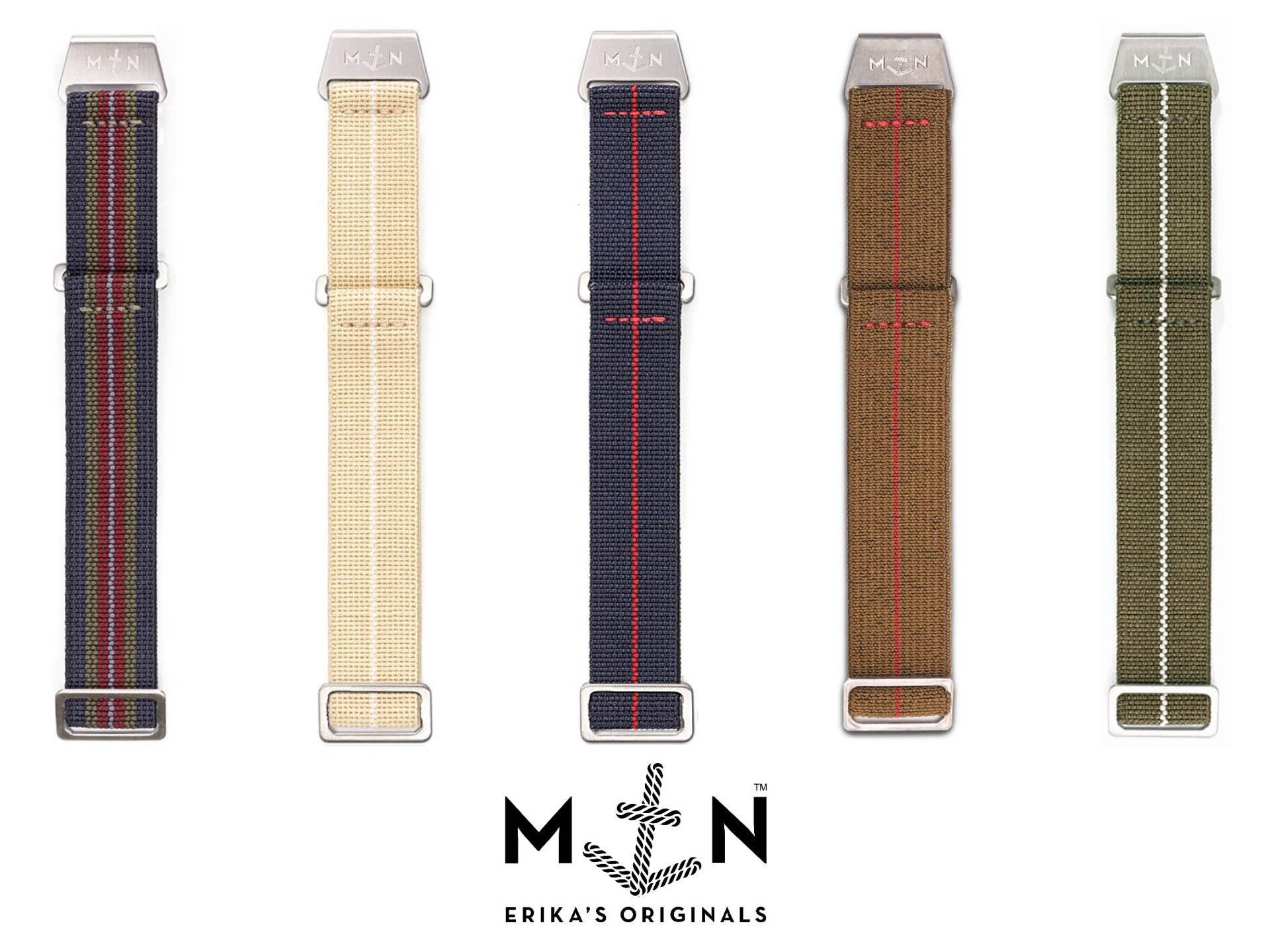 "Erika's Originals ""MN"" parachute watch straps. (from €50 / ~$58 USD)"