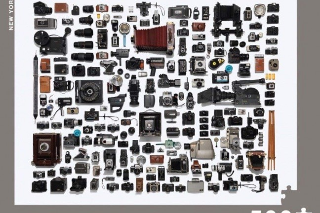 "Like photography? Then you'll love Jim Golden's ""Camera Collection"" puzzle. ($20)"