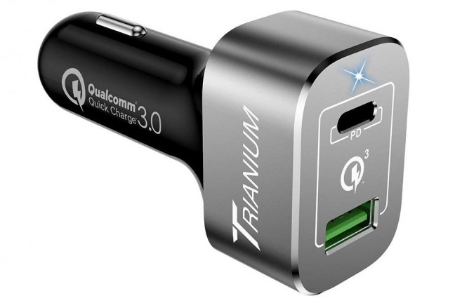 Trianium AtomicDrive universal car charger. ($20)