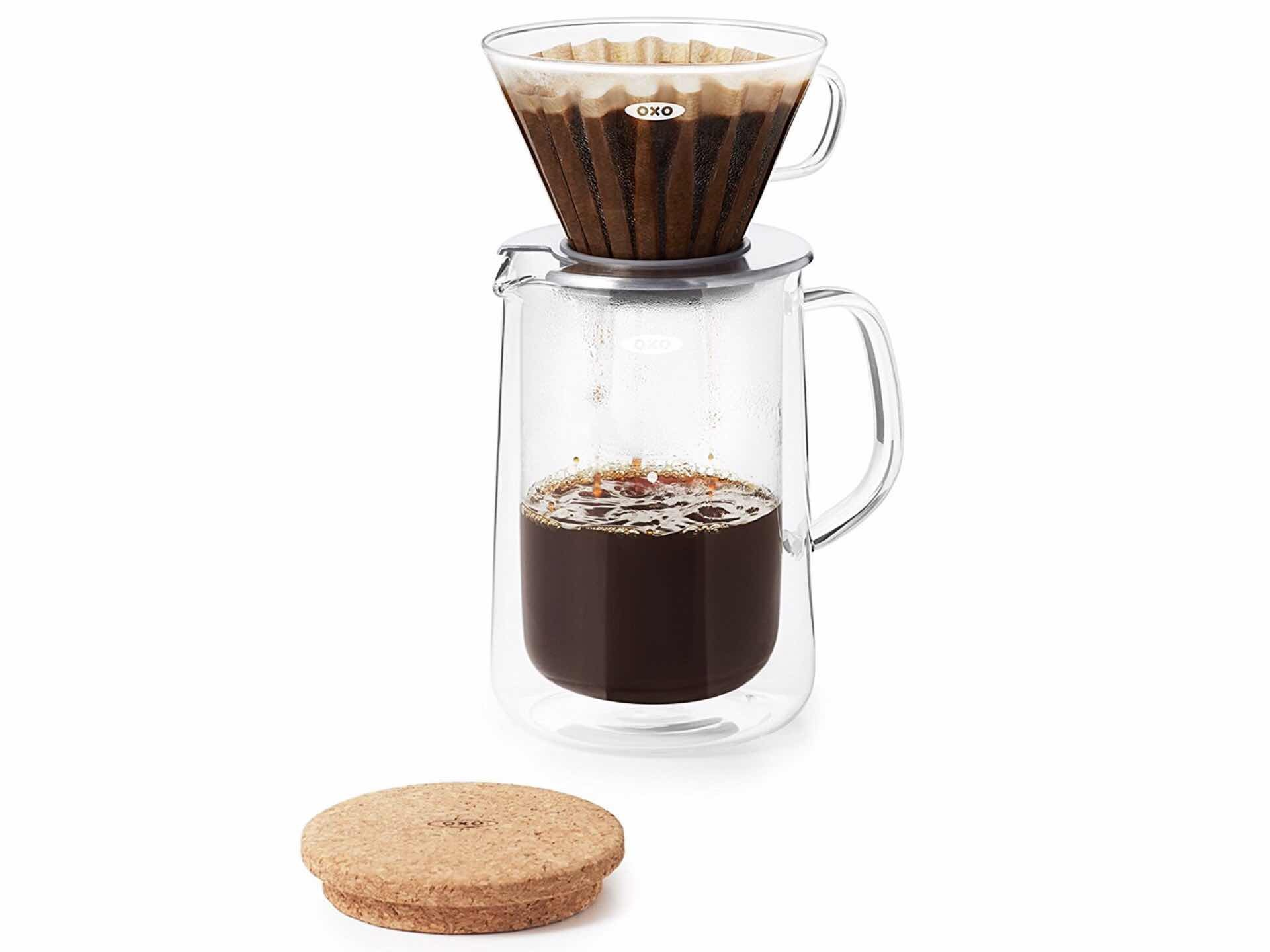 OXO Good Grips glass pour-over set. ($50)