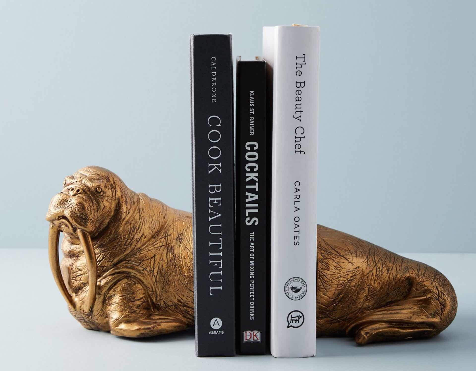 Who wouldn't want a friendly walrus pal to hold their books up? ($48)