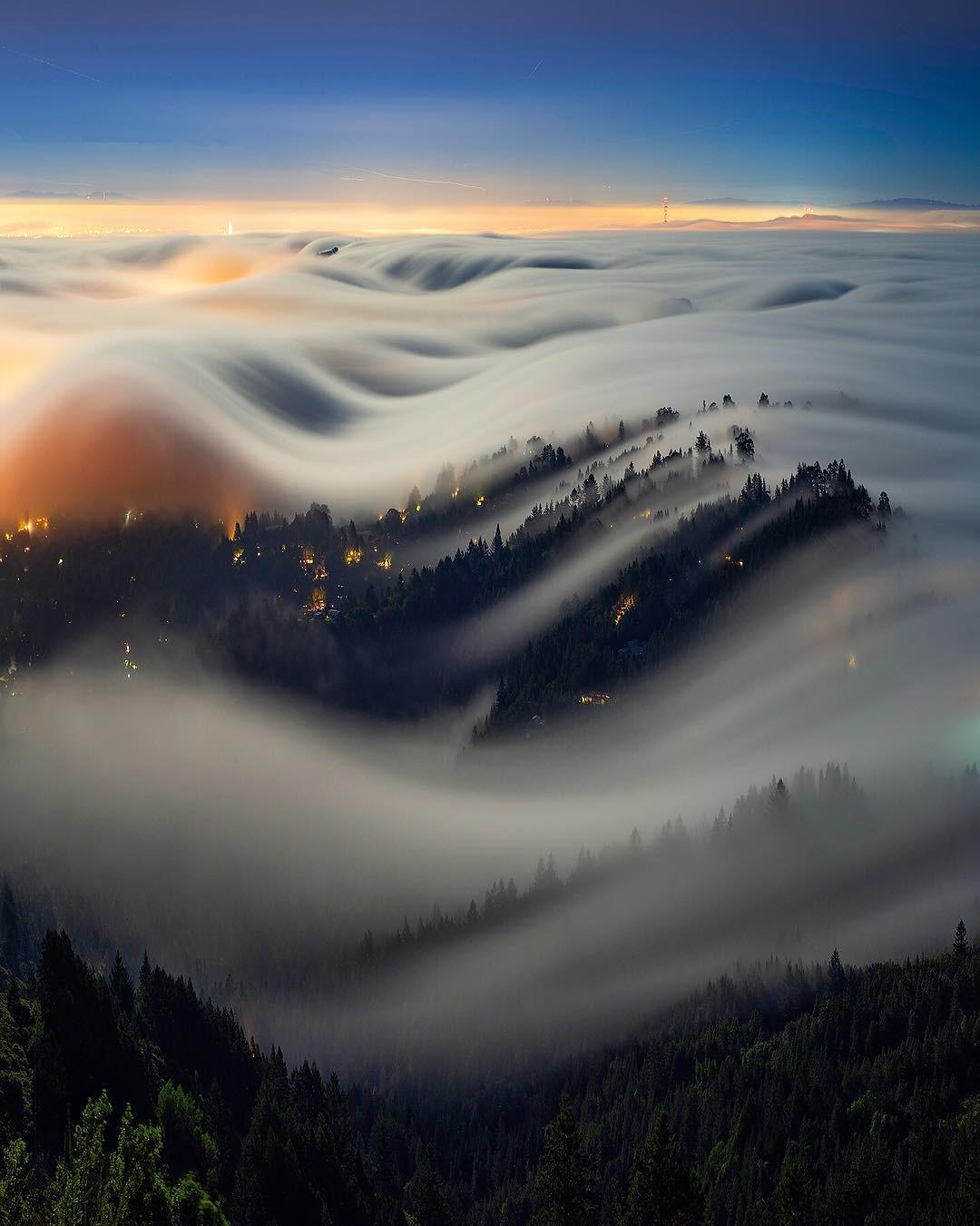 """Photo: """"Moonlit Fog Waves"""" by Nicholas Steinberg"""