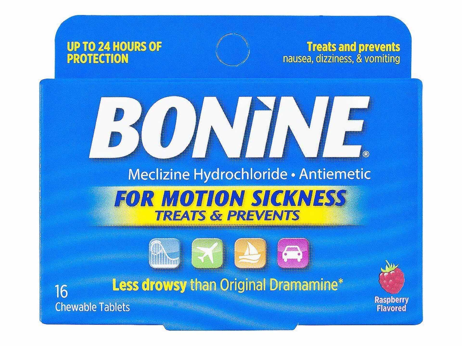 Bonine Motion Sickness Relief Chewable Tablets — Tools and Toys