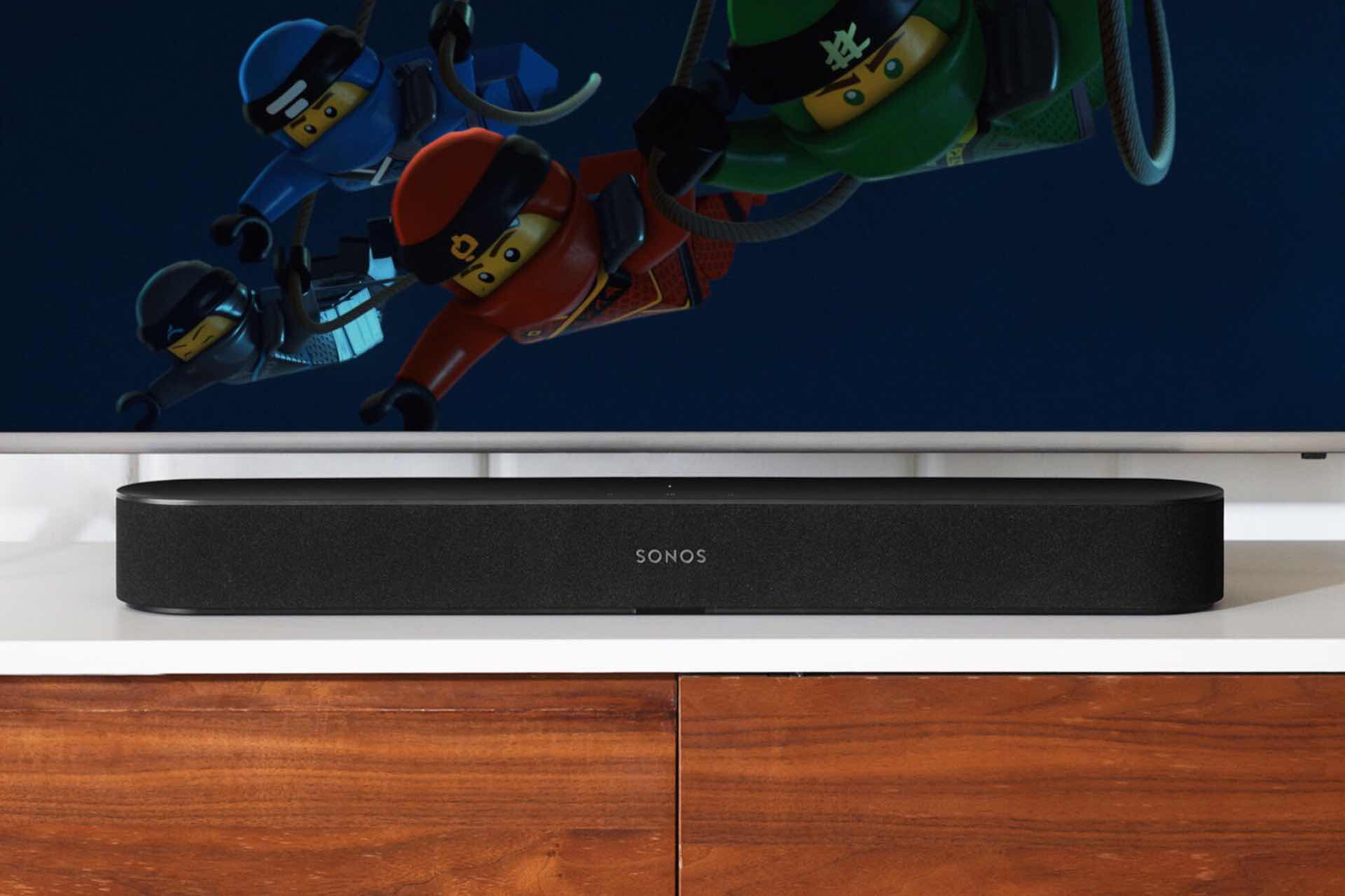 The Sonos Beam smart soundbar. ($399, comes in black and white; also available with wall mount for $458)