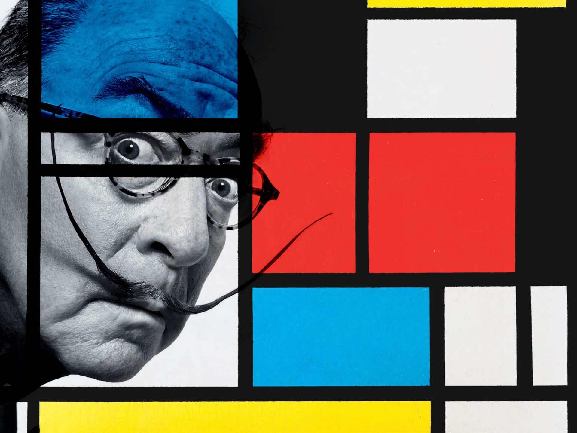 Background photo by Marvin Orellana for Vulture, with Piet Mondrian's geometric artwork overlaid by yours truly.