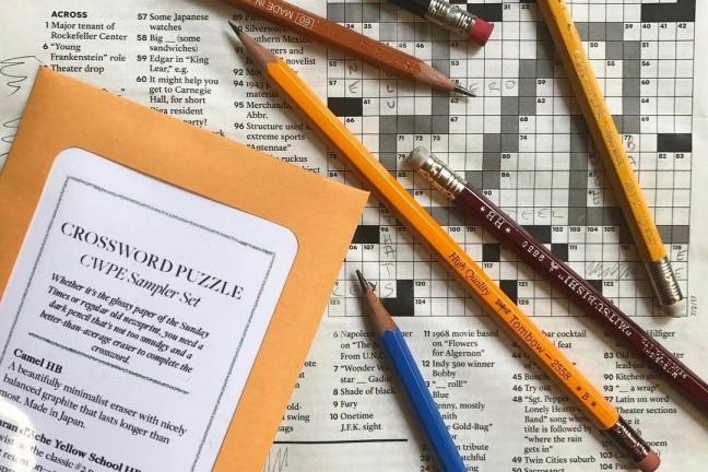 CW Pencils crossword sampler set. ($12)
